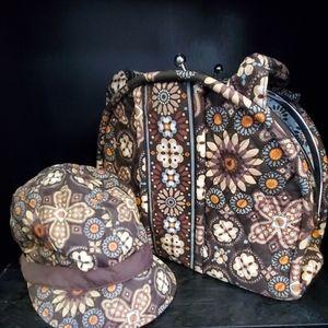Vera Bradley purse and hat...(A9)